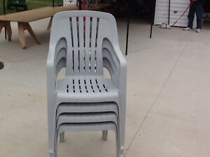 Four (4) patio chairs