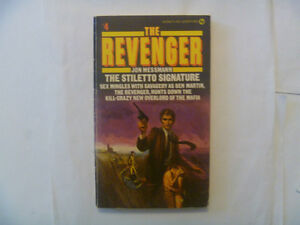 THE REVENGER: The Stiletto Signature by Jon Messman - 1974 PB