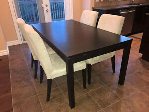IKEA Bjursta extendable dining table set - New Price
