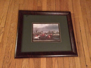 NEW PRICE - Framed Fox Hunt Picture