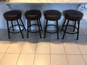 TABLE & CHAIR CO. COUNTER HEIGHT BAR STOOLS