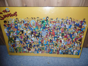 The Simpsons Plaqued Character Poster Print