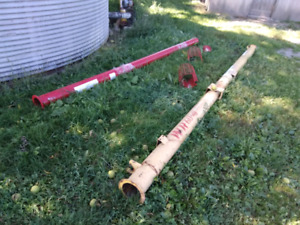 6 inch auger tubes, new and used