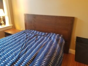 Bed Frame and Nightstand