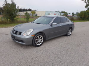 2005 Infiniti G35X ALL WHEEL DRIVE / SAFETY / E-TEST / WARRANTY
