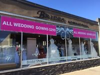 WEDDING GOWNS & EVENING GOWNS $299 BLOWOUT!!