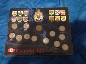 Canada's 125 years coin set
