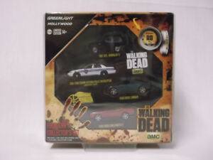 Greenlight Hollwood - The Walking Dead Four Car Set with Greenie