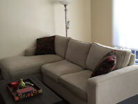 Complete Living Room-Chaise Sofa, Coffee/End Table, Chair, etc