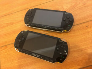2x PSP Playstation Portable Consoles with 20 games, 6 movies