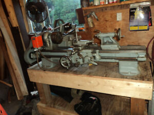 south bend older precision metal lathe, model b-9