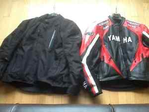 Joe Rocket textile and Yamaha  Leather jacket, 2 for price of 1