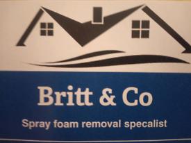 Spray foam removal
