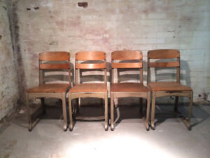 """Vintage 17"""" Envoy""""School Chairs - Made in the USA"""
