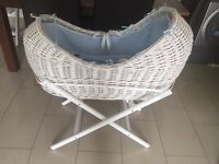 Moses Basket, Stand and Mattress