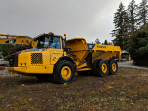 Excavator, Volvo Rock Truck, and Cat Loader for Rent