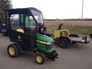 John Deer tractor  snow blower