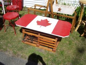 Canada Day Flag Lobster Trap Coffee Table