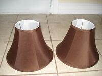 Chocolate Brown Lamp Shades
