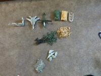 Military Playset  Over 70 pieces including plane, helicopter, ta