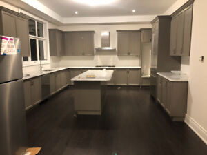 Brand New Kitchen Cabinets With Carrera Marble Countertop