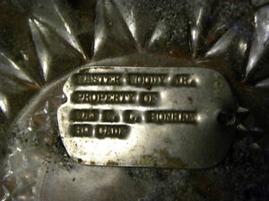 antique newfoundland Military Dog Tag
