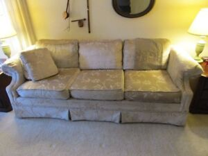 Fabric-covered couch in good condition