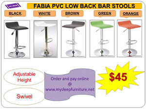 BRAND NEW- BAR STOOLS- acrylic, plastic, leather, Many colors City of Toronto Toronto (GTA) image 1