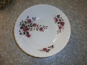 "Ridgway ""Fragrance"" pattern plates, bowls, oval platter, cereal"