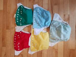 15 Cloth Diapers / couches lavables