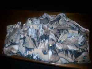 Fleece coat and mittens size medium