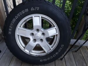 4 tires mounted 245/65/17 5x127 bolt pattern