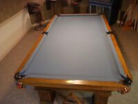 Antique Pool Table Top