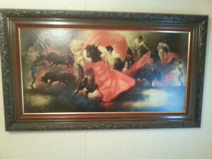 BULL FIGHT PAINTING