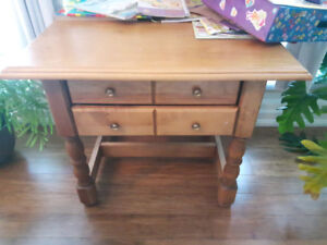 Large Solid Pine Wood side table