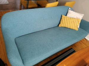 beautiful blue couches