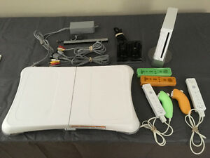 Wii Console with accessories and 6 games