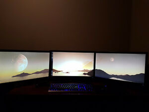 Asus VS248H-P Monitors, on a Triple monitor Bezel.