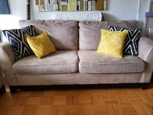 Neutral Colour Couch/Sofa with Love Seat for sale
