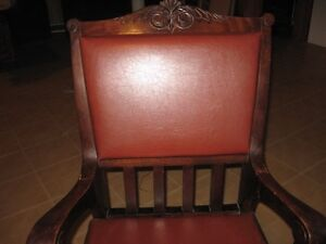 Solid Wood Decorative Leather Chair London Ontario image 2