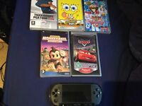PSP with 4 games and 1 movie