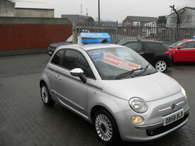 Fiat 500 1.2 SPORT, CHEAP ROAD TAX ONLY £30 PER YEAR !!!!