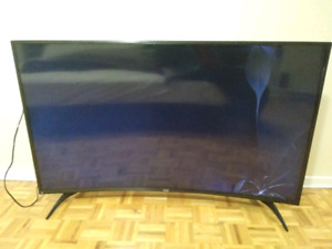 55 inch curved 4kUHD Sharp TV (not working)