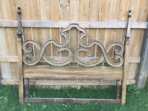 Antique Solid Wood Headboard (queen or double)