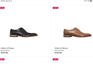 Brand New Men's Leather Dress Shoes for sale
