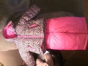 Carter's leopard and pink size 12 months snow suit