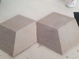 Grey hexagon shape tiles. Used. Sell as seen.