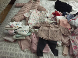 Baby girl clothes NB to 3 months New/Used