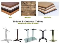 Restaurant tables - Tops/Bases - Indoor/Outdoor - Laminate/MFC/Solid wood /Metal/Werzalit/ Veneer