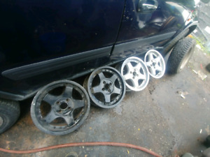 15 inch racing wheels 15x7 4x100 ROH Imported Rare